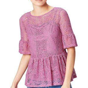 Women's Lace Ruffle Top